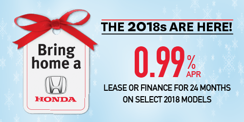 Bring Home a Honda – The 2018s Are Here!