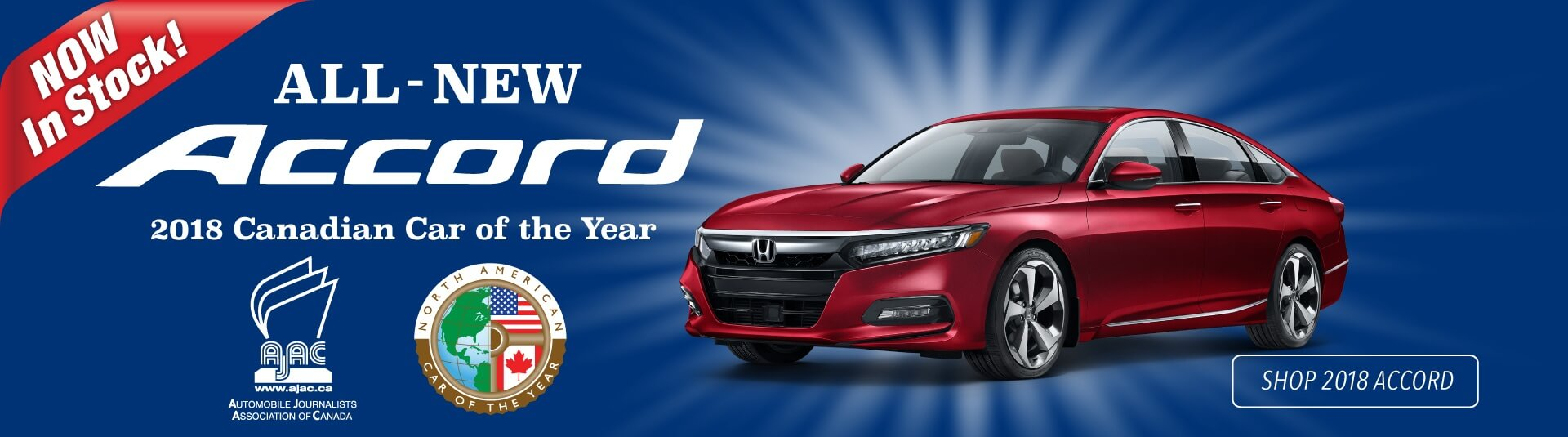 2018 Honda Accord car of the year award winner