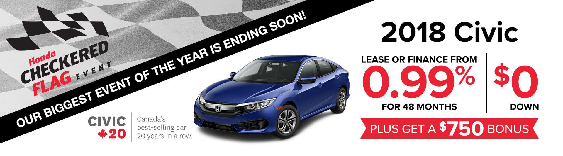 Honda Civic Checkered Flag Event
