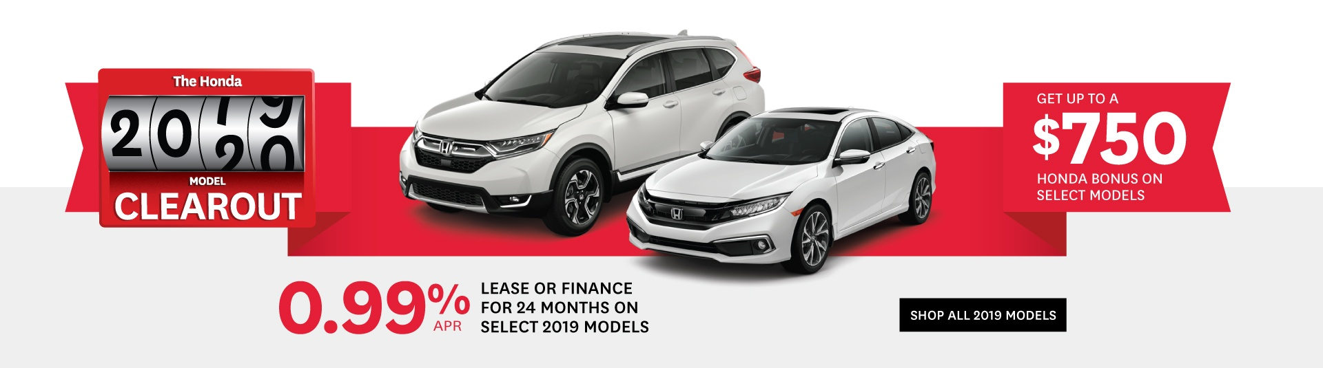 Goderich Honda Model Clearout 2019