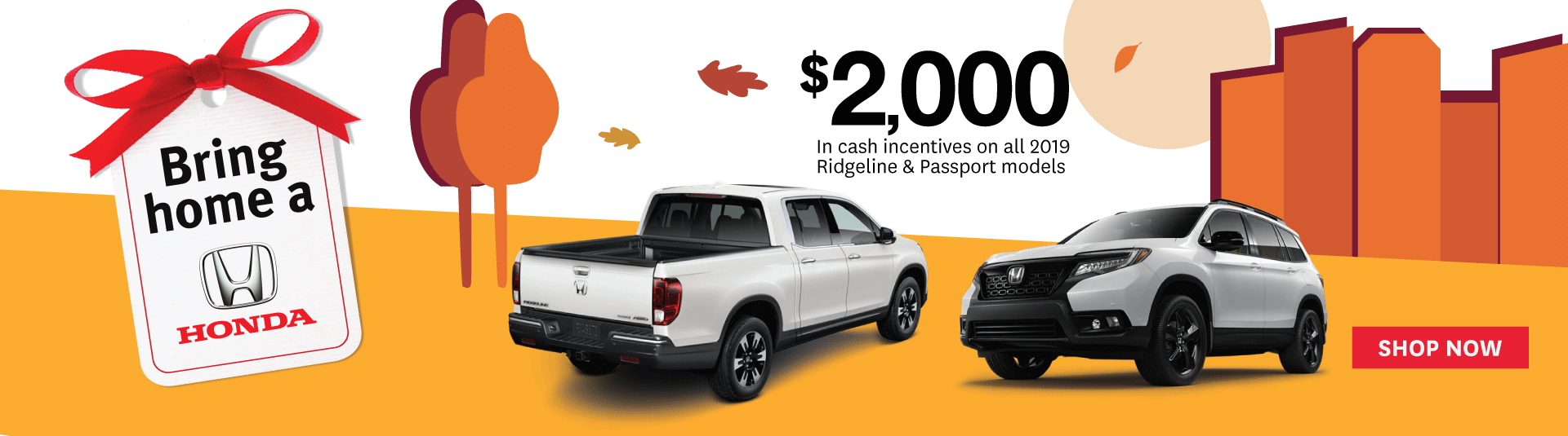 $2000 Cash Discount on all 2019 Ridgeline & Passport Models - Goderich Honda