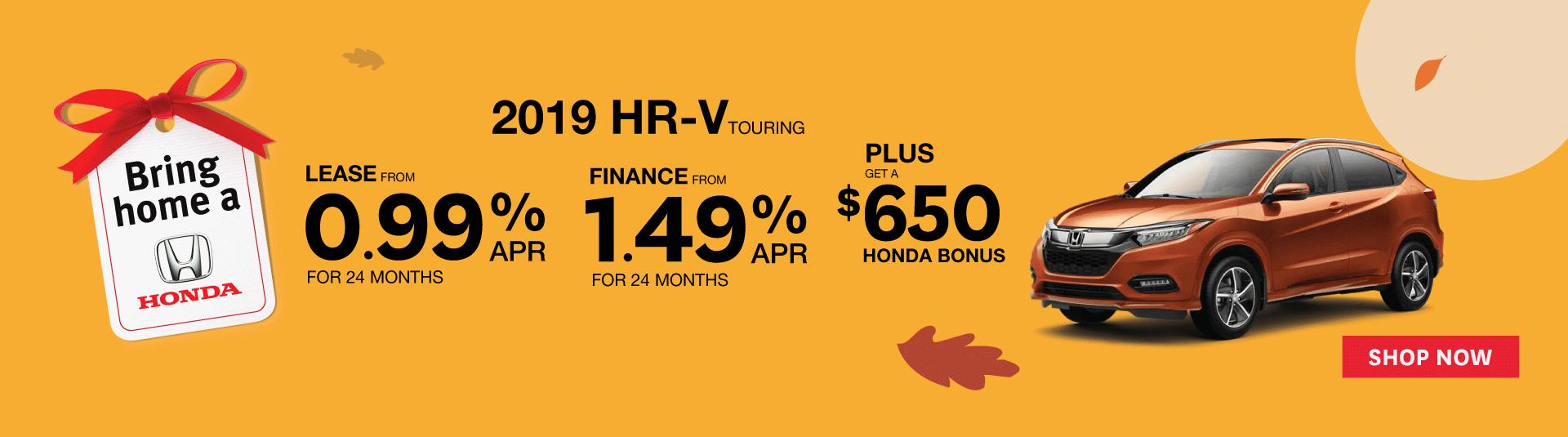 2019 HR-V Touring - Goderich Honda