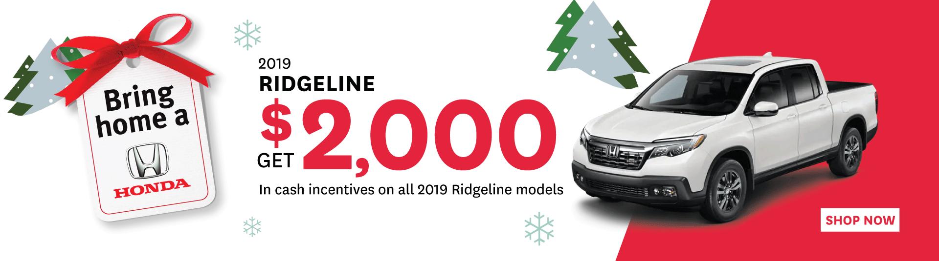 2019 Hona Ridgeline - Goderich Honda