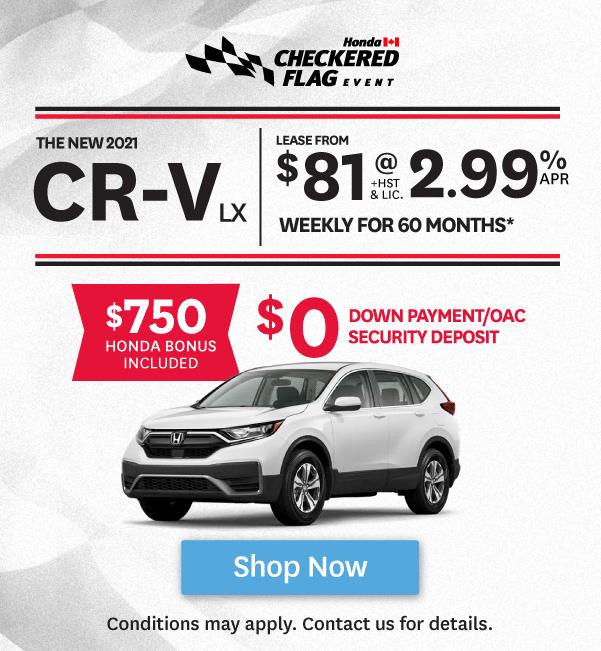 Goderich Honda Checkered Flag Event CRV Offer
