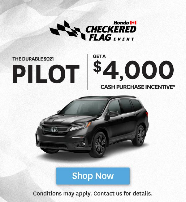 Goderich Honda Checkered Flag Event Pilot Offer