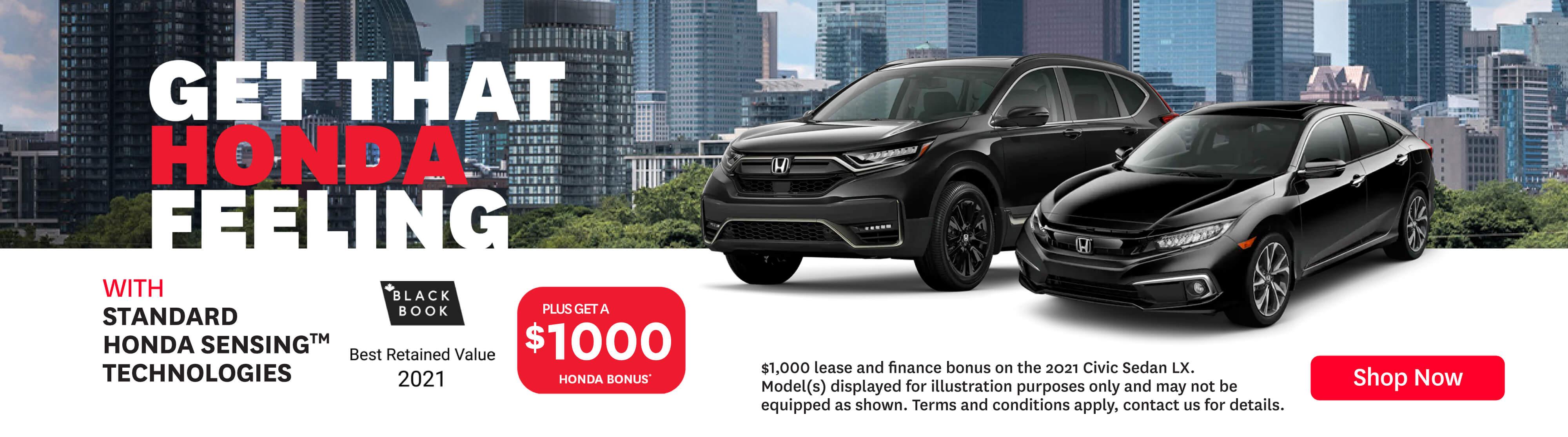 Goderich Honda That Honda Feeling June Offer