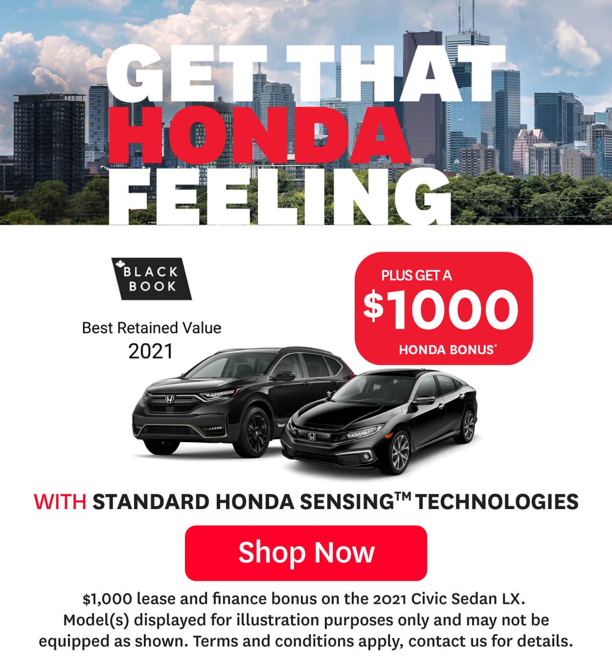 Goderich Honda That Honda Feeling June Offer Generic Promo