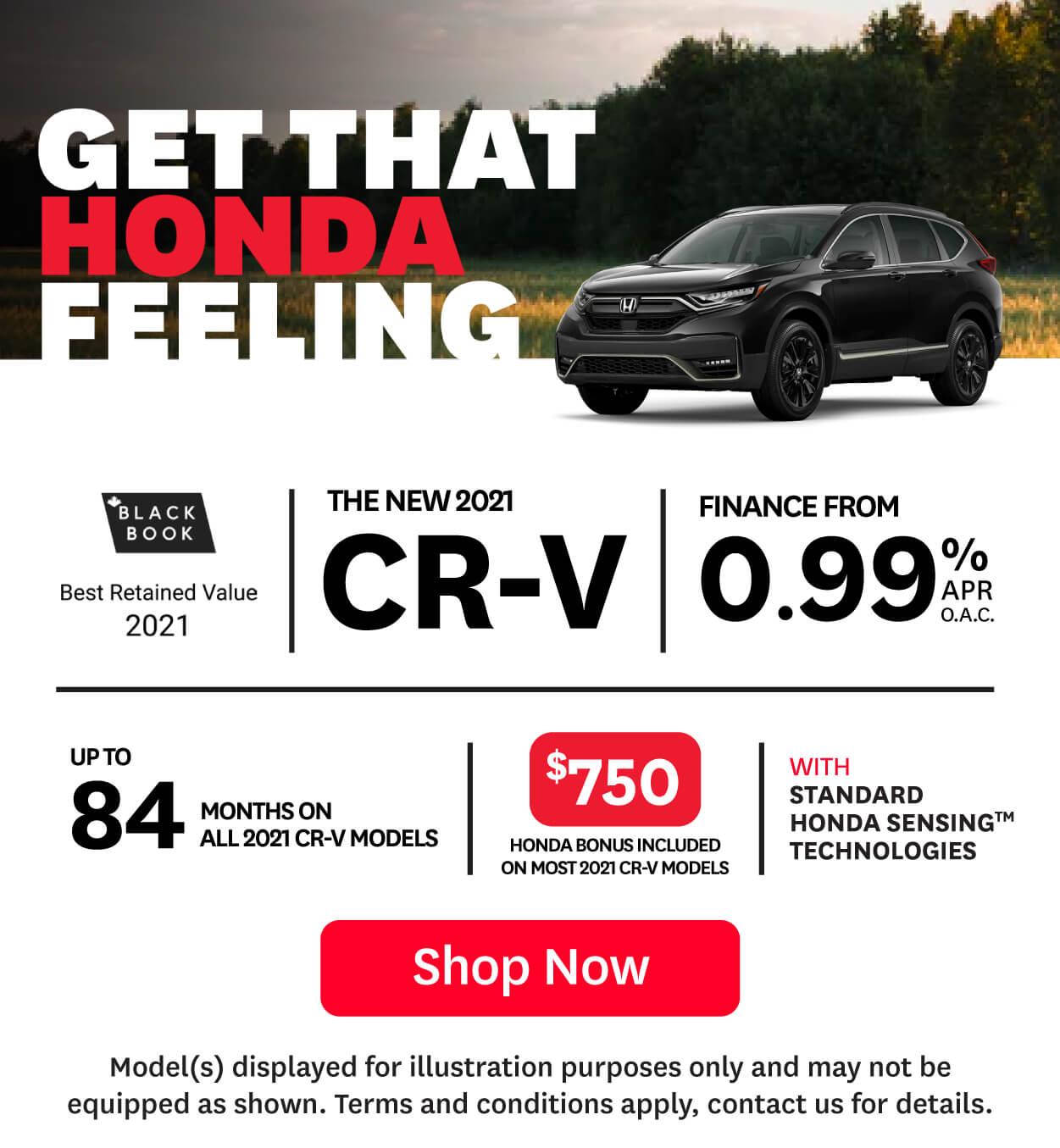2021 Honda CR-V offer at Goderich Honda