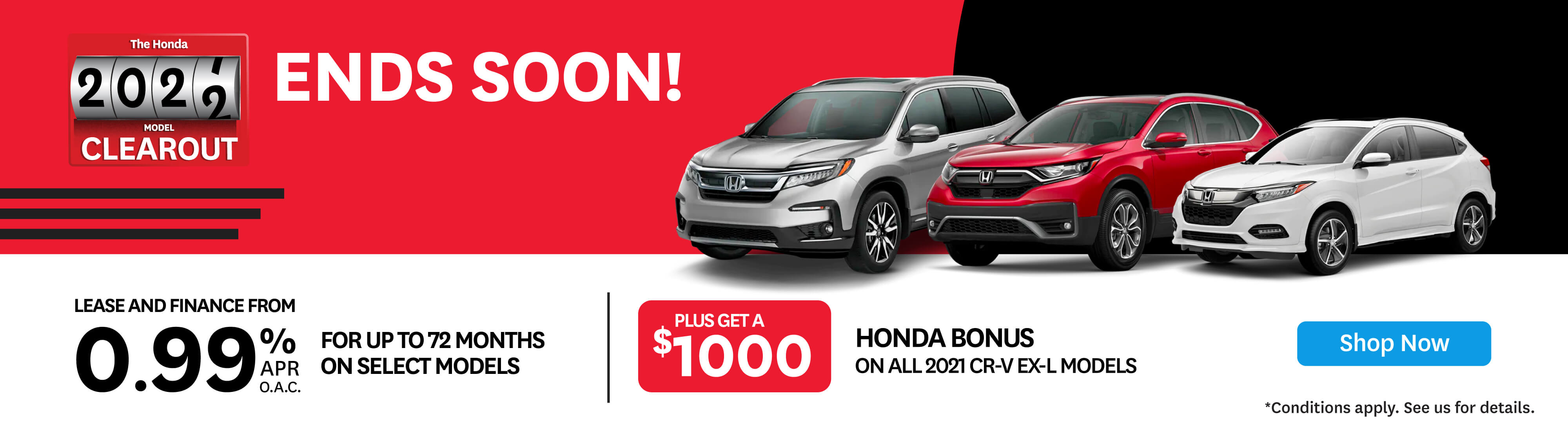 Goderich Honda 2021 Clearout