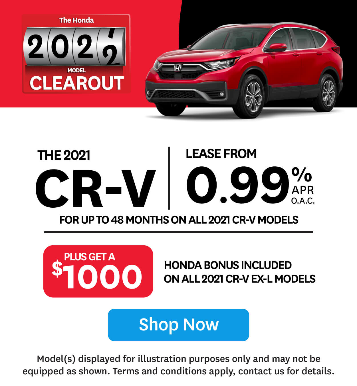 Honda CR-V 2021 Clearout Event at Goderich Honda