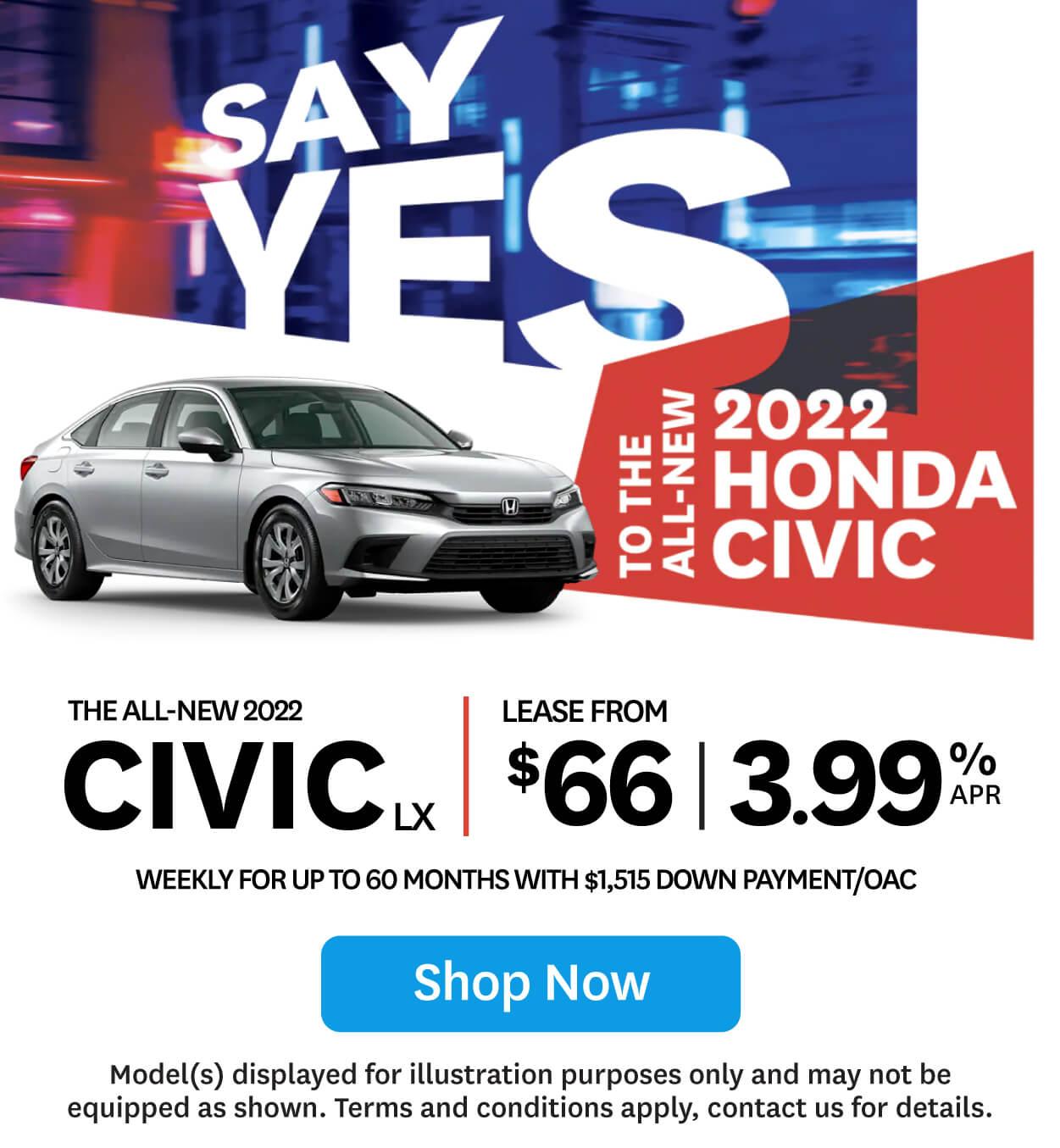 The New 2022 Honda Civic at Goderich Honda